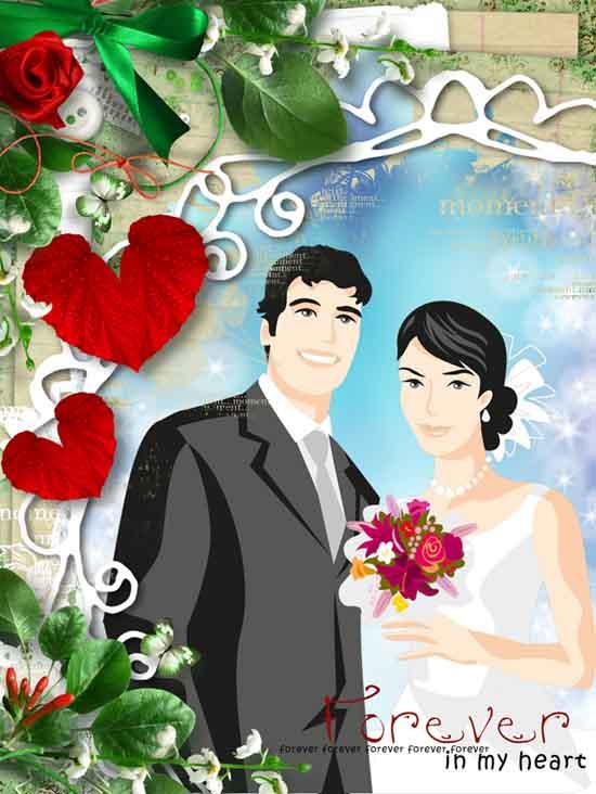 فون لایه باز عروس و داماد زیبا
